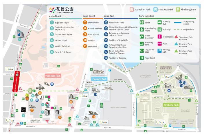 2018_Taipei_EXPO_Park_map_en